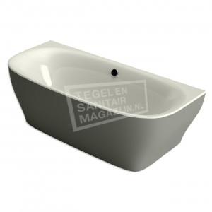 Xenz Dion 180x80x60 cm semi vrijstaand bad edelweiss en cement