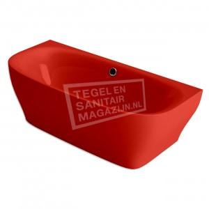 Xenz Dion 180x80x60 cm semi vrijstaand bad burgundy rood glans