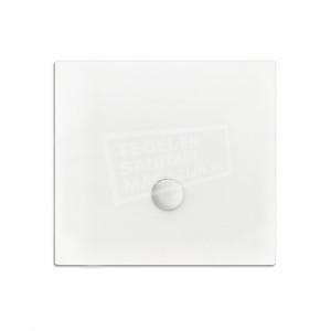 Xenz Flat zelfdragende douchebak 90x90x3.5 cm acryl wit glans