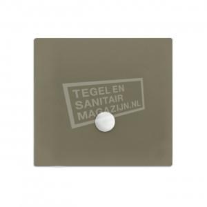 Xenz Flat zelfdragende douchebak 90x90x3.5 cm acryl klei mat