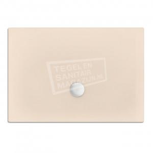Xenz Flat zelfdragende douchebak 100x80x3.5 cm acryl creme mat