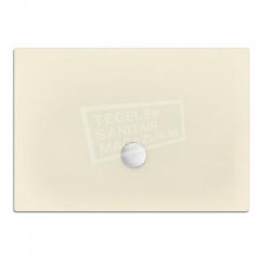 Xenz Flat zelfdragende douchebak 100x80x3.5 cm acryl pergamon glans