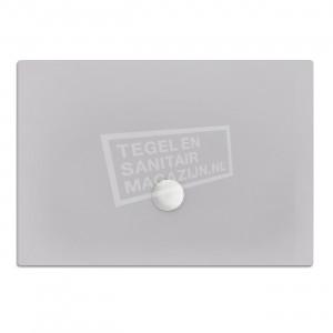 Xenz Flat zelfdragende douchebak 100x80x3.5 cm acryl manhatten glans