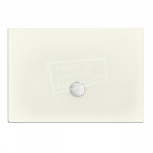 Xenz Flat zelfdragende douchebak 100x90x3.5 cm acryl edelwiess mat