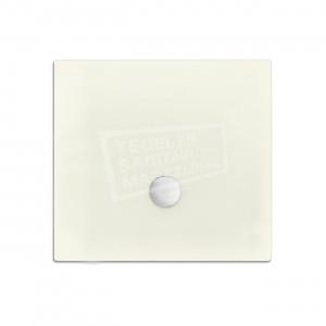 Xenz Flat zelfdragende douchebak 100x100x3.5 cm acryl edelwiess mat