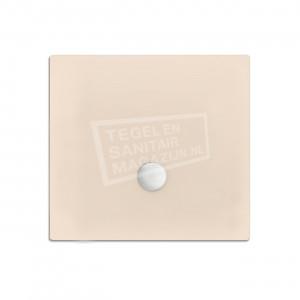 Xenz Flat zelfdragende douchebak 100x100x3.5 cm acryl creme mat