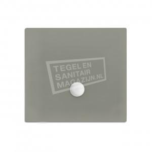 Xenz Flat zelfdragende douchebak 100x100x3.5 cm acryl cement mat