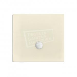 Xenz Flat zelfdragende douchebak 100x100x3.5 cm acryl pergamon glans
