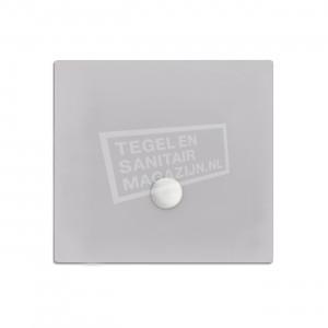 Xenz Flat zelfdragende douchebak 100x100x3.5 cm acryl manhatten glans