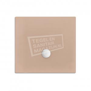 Xenz Flat zelfdragende douchebak 100x100x3.5 cm acryl bahama glans