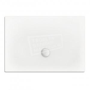 Xenz Flat zelfdragende douchebak 140x100x3.5 cm acryl wit glans