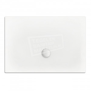 Xenz Flat zelfdragende douchebak 150x90x3.5 cm acryl wit glans