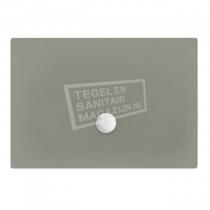 Xenz Flat zelfdragende douchebak 180x90x3.5 cm acryl cement mat