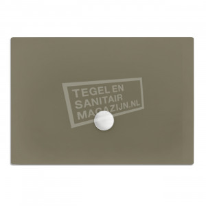 Xenz Flat zelfdragende douchebak 200x100x3.5 cm acryl klei mat